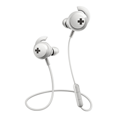 SHB4305WT/27 -   BASS+ Wireless Bluetooth® headphones