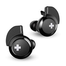 SHB4385BK/00 -   BASS+ Bezdrátová sluchátka Bluetooth®