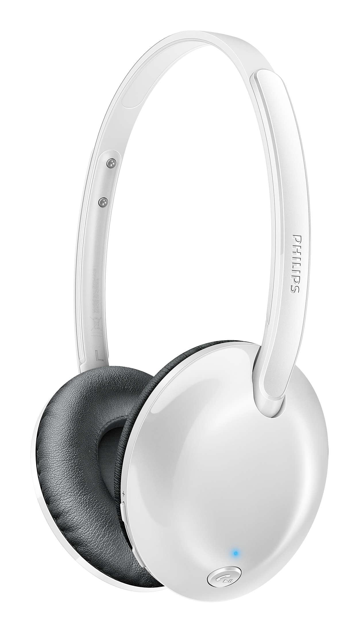 Flite Wireless Bluetooth Headphones Shb4405wt 27 Philips