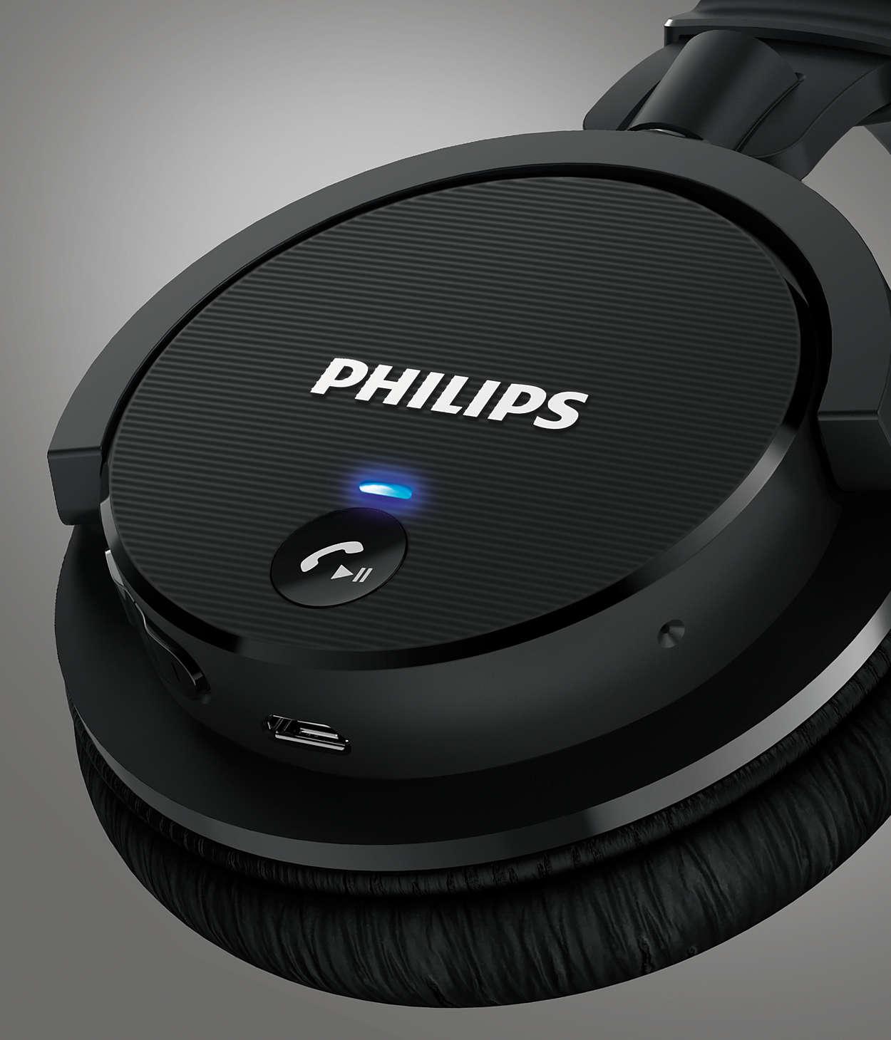 Casque Bluetooth Sans Fil Shb5600bk10 Philips