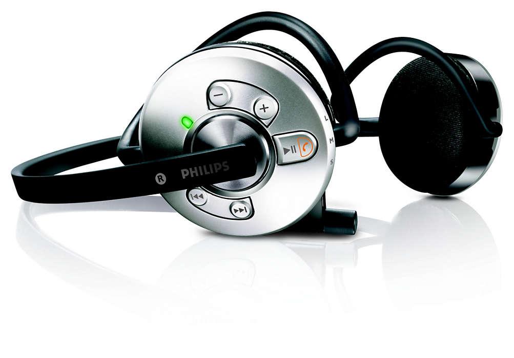 Kabellos übertragene Musik und Internetanrufe