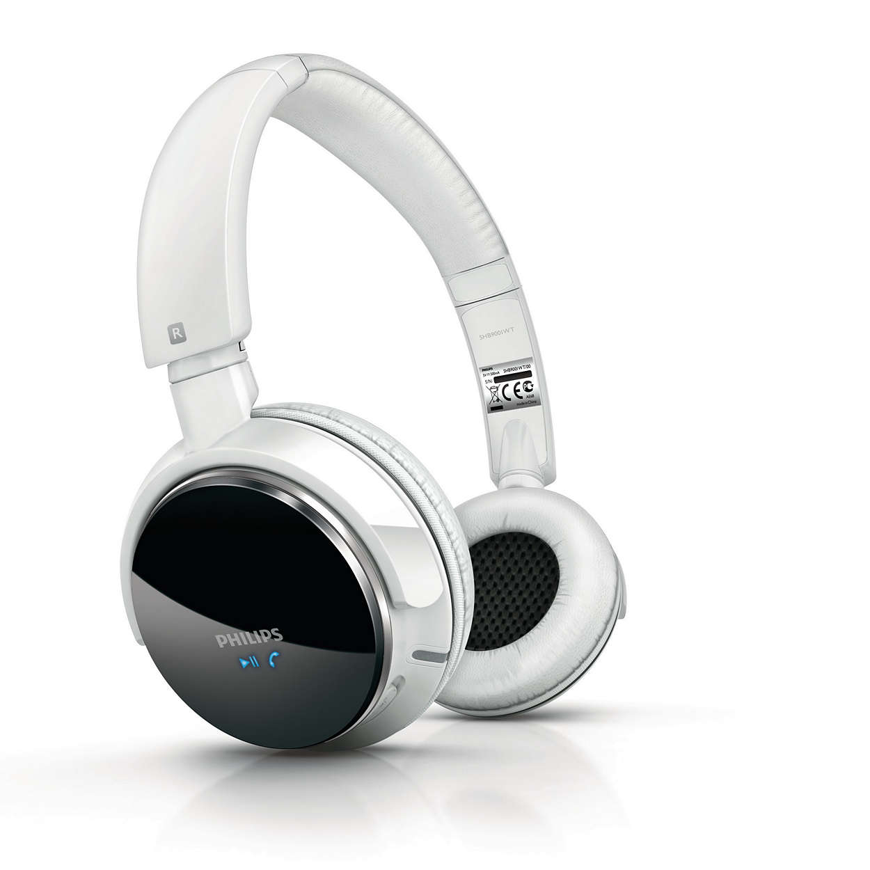 casque st r o avec micro bluetooth shb9001wt 00 philips. Black Bedroom Furniture Sets. Home Design Ideas