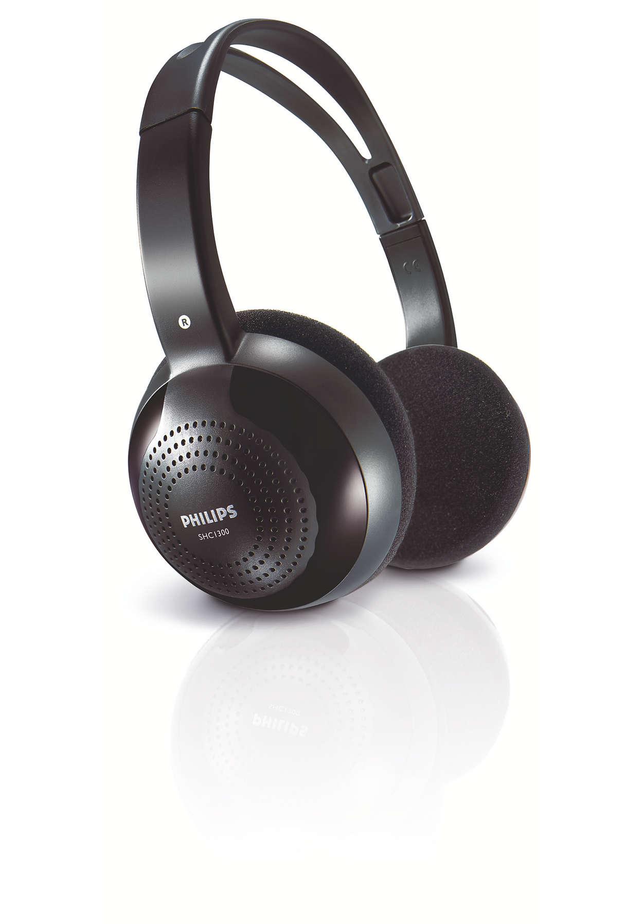 Wygodne słuchanie bezprzewodowe dzięki sygnałowi podczerwieni