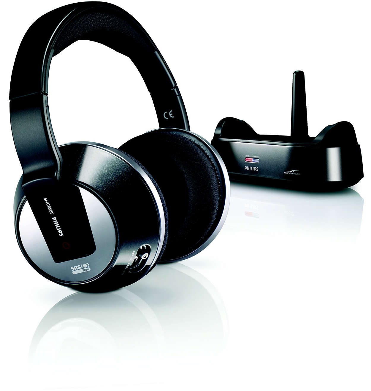 wireless home cinema headphones shc8585 00 philips. Black Bedroom Furniture Sets. Home Design Ideas