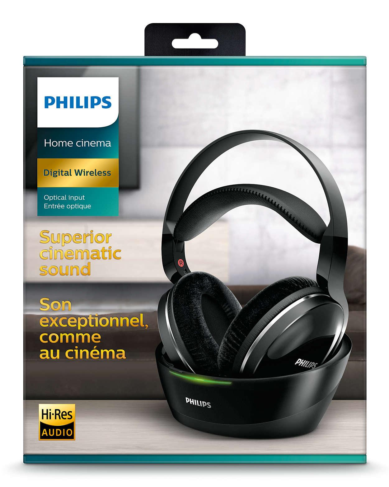 2ded61fcab7 Wireless TV headphones SHD8850/12 | Philips