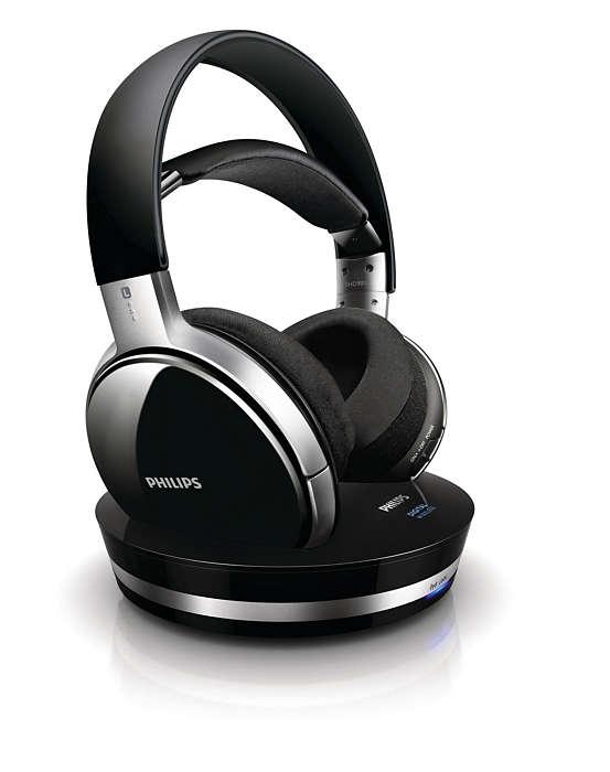 Prawdziwa jakość CD dzięki cyfrowym słuchawkom bezprzewodowym