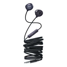 UpBeat Earbud headphones with mic