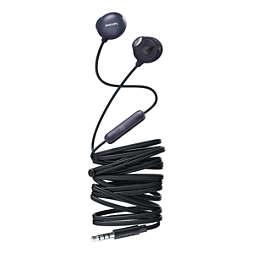 UpBeat Hoofdtelefoon met oordopjes en microfoon
