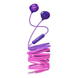 Earbud headphones with mic