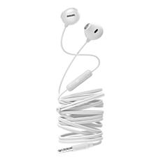 SHE2305WT/00 -   UpBeat In-ear-hörlurar med mikrofon
