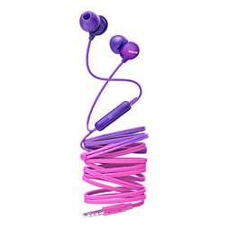 In-ear-hörlurar med mikrofon