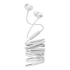SHE2405WT/00  Слушалки за поставяне в ушите с микрофон