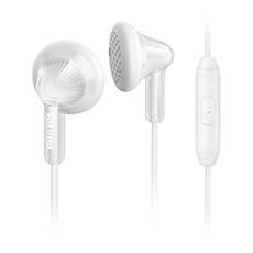 SHE3015WT/00  Słuchawki z mikrofonem