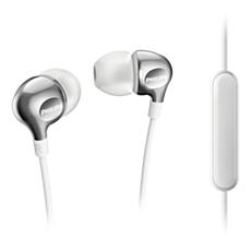 SHE3705WT/00 -    Słuchawki z mikrofonem
