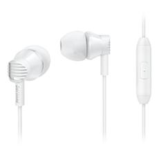 SHE3805WT/00 -    In-ear-hörlurar med mikrofon