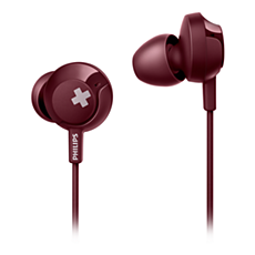 SHE4305RD/00 -   BASS+ Słuchawki z mikrofonem
