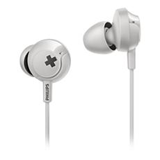 SHE4305WT/00 -   BASS+ Słuchawki z mikrofonem