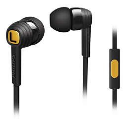 CitiScape Indies Fone de ouvido com microfone