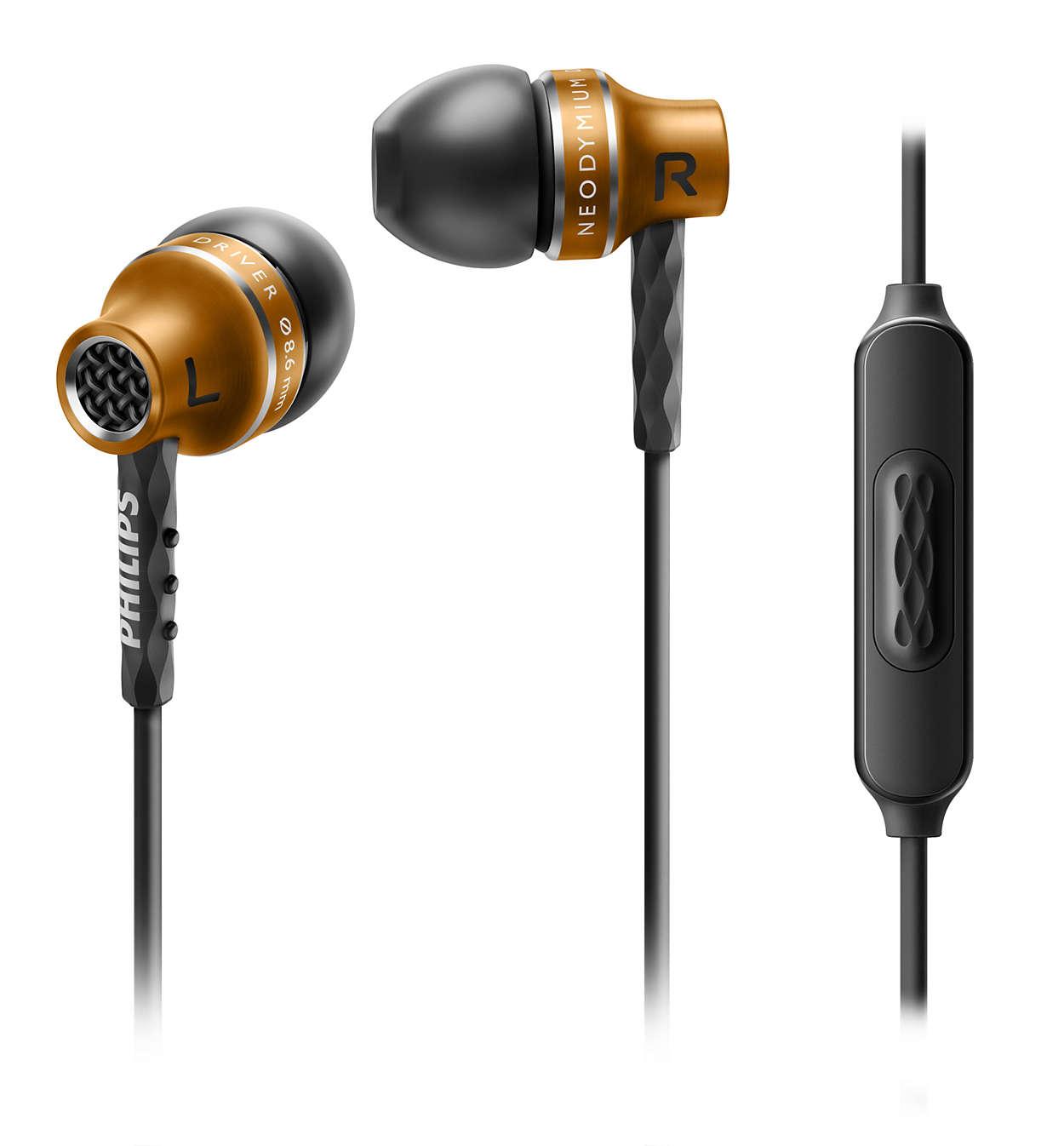 Enjoy high performance precision sound