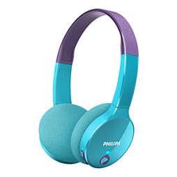 Trådlösa bluetooth® -hörlurar för barn