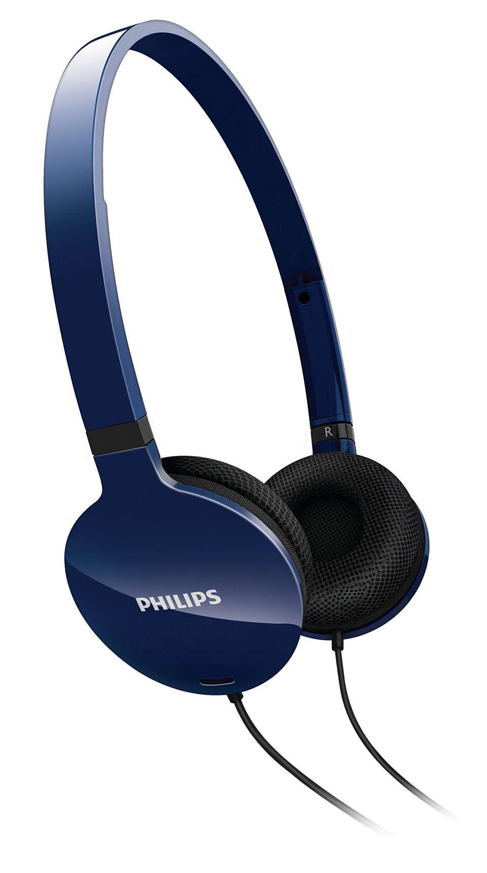Lightweight comfort, powerful sound