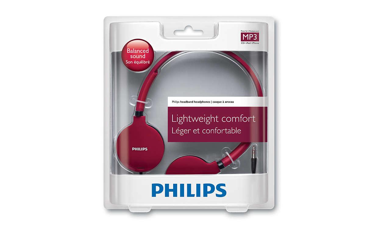Lightweight Headphones SHL1700RD/10   Philips