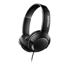 SHL3070BK/00 BASS+ On-ear headphones