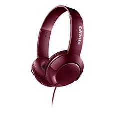 SHL3070RD/00 BASS+ On ear headphones