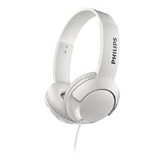 SHL3070WT/00 BASS+ On-ear headphones