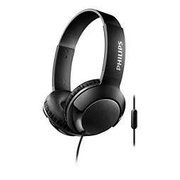 Headphones with mic