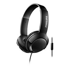 SHL3075BK/00 -   BASS+ Słuchawki z mikrofonem