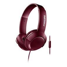 SHL3075RD/00 -   BASS+ Słuchawki z mikrofonem