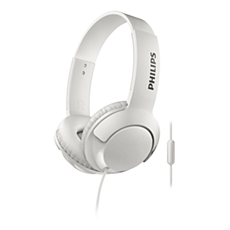 SHL3075WT/00 BASS+ Headphones with mic