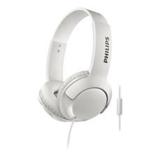 SHL3075WT/00 BASS+ 帶麥克風耳機