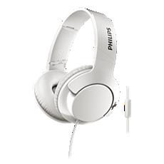 SHL3175WT/00 -   BASS+ Słuchawki z mikrofonem