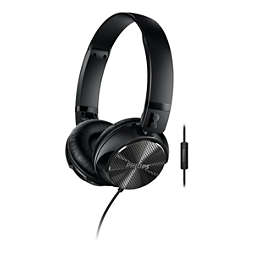Noise cancellation headphones with mic