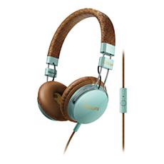 SHL5505GB/00 -    Hörlurar med huvudband och mikrofon