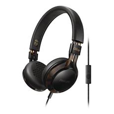 SHL5705BKP/00 -    Słuchawki z pałąkiem na głowę wyposażone w mikrofon