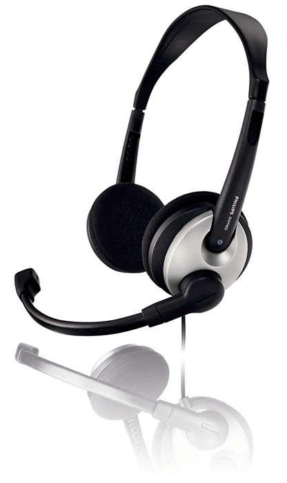 Fone de ouvido ultraleve com microfone