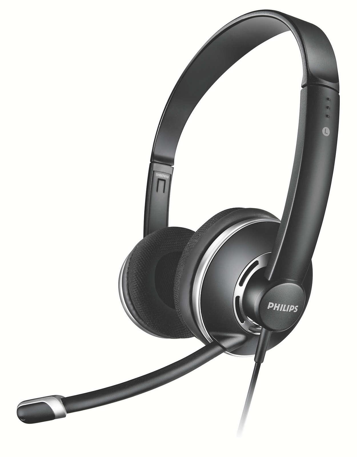 Стерео слушалки за компютър - нормален размер