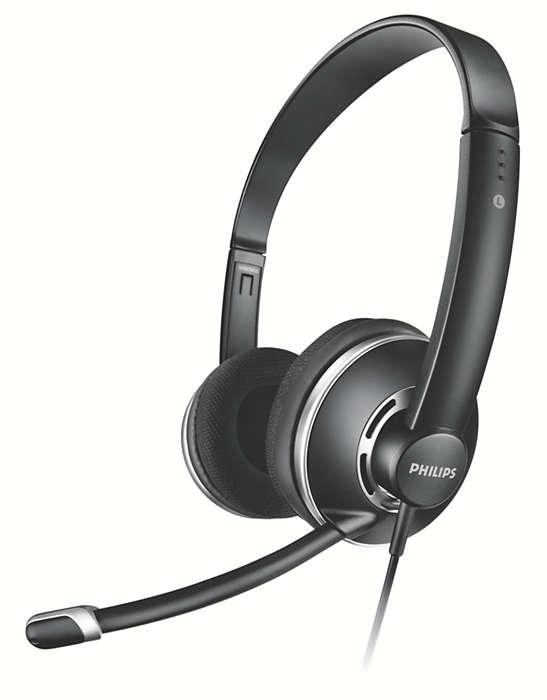 Stereo slušalice za računalo pune veličine