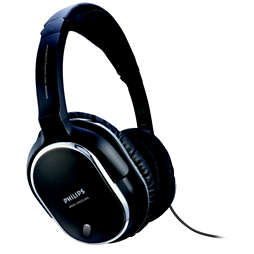 Hodetelefoner med hodebøyle med støyundertrykking