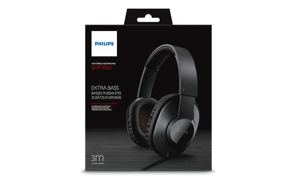 406d1a4d5f4 HiFi Stereo Headphones SHP3000/00 | Philips