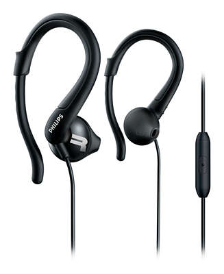Actionfit Sports Headphones With Mic Shq1255tbk 27 Philips