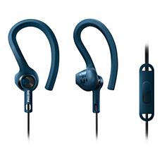 SHQ1405BL/00 ActionFit Sportinės ausinės su mikrofonu