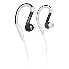 SHQ3200WT/28 ActionFit Audífonos deportivos con gancho para la oreja