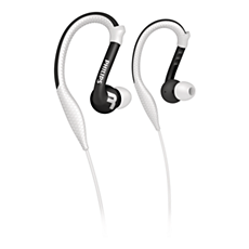 SHQ3200WT/28 ActionFit Fones de ouvido esportivos com gancho para orelha