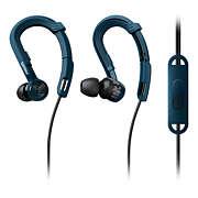 ActionFit Sportfülhallgató mikrofonnal
