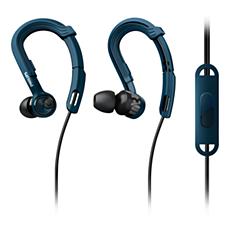 SHQ3405BL/00 ActionFit Sportinės ausinės su mikrofonu