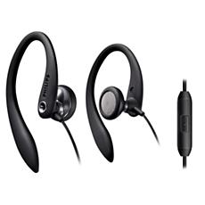 SHS3305BK/10 -    Słuchawki z nakładkami na uszy wyposażone w mikrofon